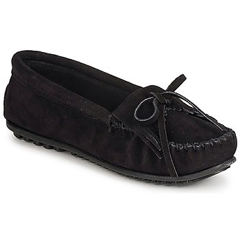 Shoes Women Loafers Minnetonka KILTY SUEDE MOC  BLACK / Suede