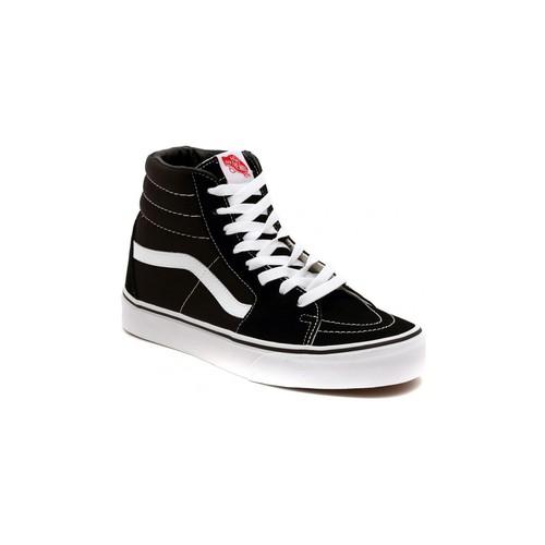 Shoes Hi top trainers Vans SK8 HI BLACK Silver