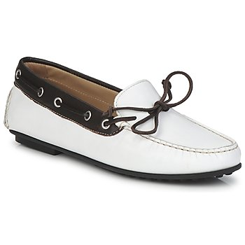 Shoes Women Boat shoes Ecco KAYLOR White / Brown