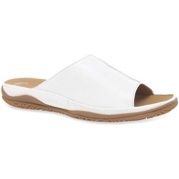 Shoes Women Sandals Gabor Idol Leather Wide Fit Casual Womens Mules white