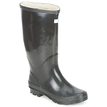 Wedge Welly MISS PREDICTABLE WIDE FIT women's Wellington Boots in black