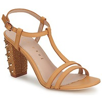 Shoes Women Heels Lola Cruz STUDDED Beige / Tan