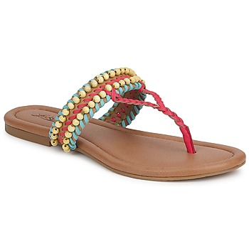 Shoes Women Sandals Lucky Brand DOLLIS Dark / Camel / Teaberry / Capri / Blue