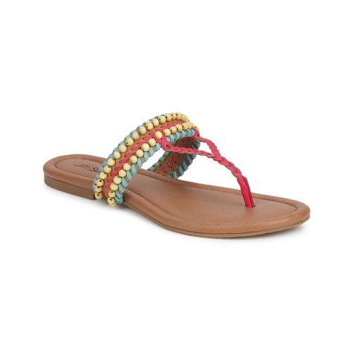 Shoes Women Sandals Lucky Brand DOLLIS Dark / Camel / Teaberry / Capri / Blue