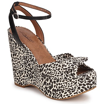 Shoes Women Sandals Lucky Brand VIERA LEOPARD/NATURAL