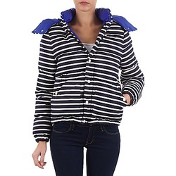 Clothing Women Duffel coats Petit Bateau CASSIS Marine / White