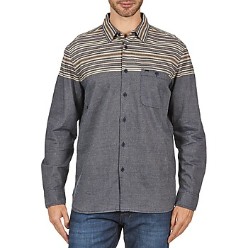 Clothing Men long-sleeved shirts Element LENOX Blue / MARINE