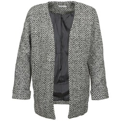Clothing Women coats Betty London DERCY Black / Mottled