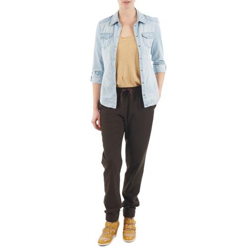 Clothing Women Wide leg / Harem trousers Bensimon BRODY Brown