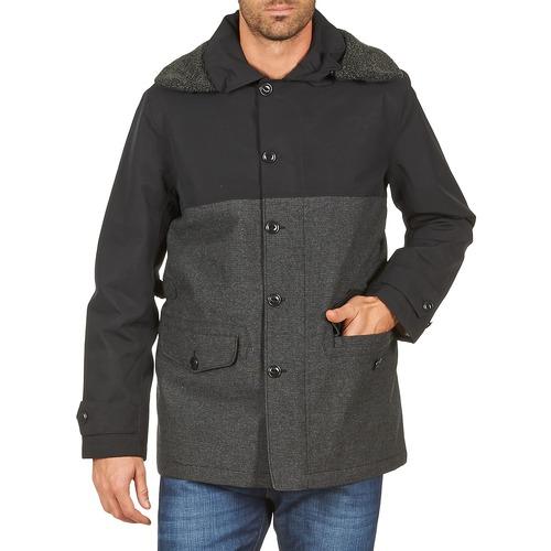 Clothing Men coats Aigle SHERPAFIELD Black / Grey