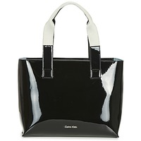 Bags Women Shopping Bags / Baskets Calvin Klein Jeans FLOW EW TOTE Black