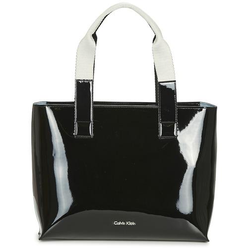 Bags Women Shopping Bags / Baskets Calvin Klein Jeans FLOW EW TOTE Black