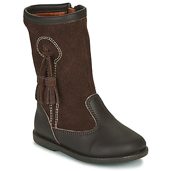 Shoes Girl High boots Citrouille et Compagnie LEVUNE Brown