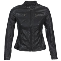 Clothing Women Leather jackets / Imitation leather Moony Mood DESCUNE Black
