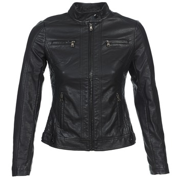 Clothing Women Leather jackets / Imitation leather Moony Mood DUIR Black