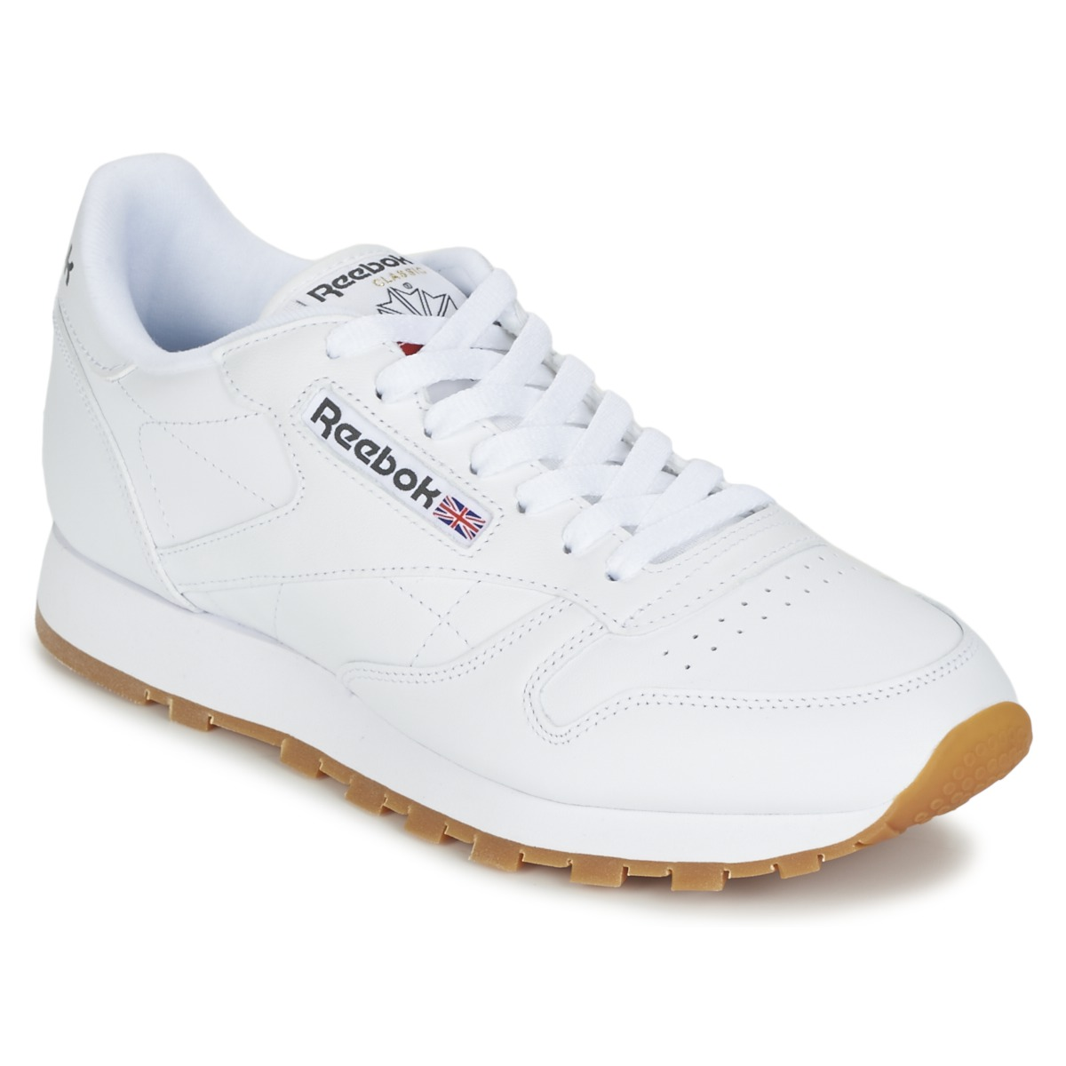 c2bb5069298 Reebok Classic CLASSIC LEATHER White - Free delivery with Spartoo UK ...