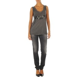 Clothing Women slim jeans Diesel GETLEGG L.32 TROUSERS Grey