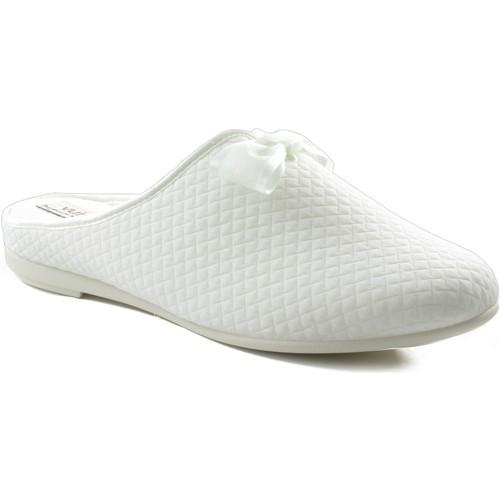 Shoes Women Slippers Vulladi square domestic shoe WHITE