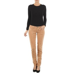 Clothing Women slim jeans Diesel GRUPEE-F TROUSERS BEIGE