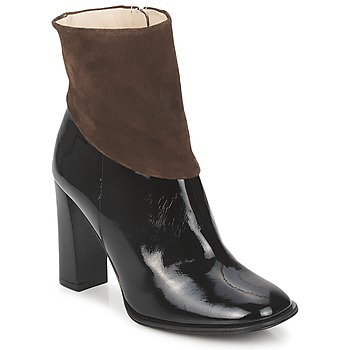 Shoes Women Ankle boots Paco Gil MERLOUNI Black / Brown
