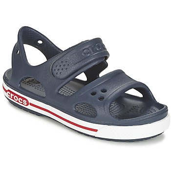 Shoes Boy Clogs Crocs CROCBAND II SANDAL PS Marine / White
