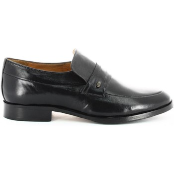 Shoes Men Loafers Fontana 5574-N Mocassins Man Black Black