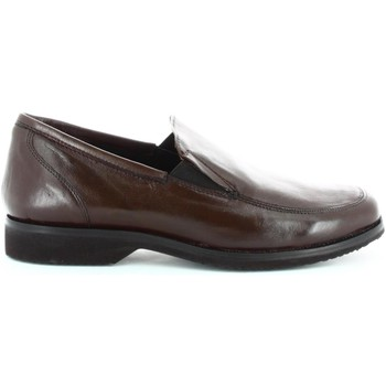Shoes Men Loafers Fontana 5642-N Mocassins Man Brown Brown