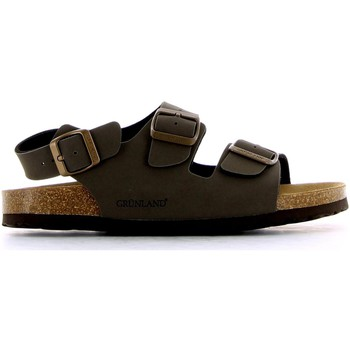 Shoes Men Sandals Grunland SB0088 Sandals Man Kaki Kaki