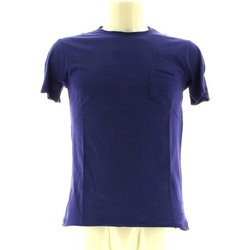 Clothing Men short-sleeved t-shirts Olimpias THMU4126 MU0454 OL T-shirt Man Marina blu