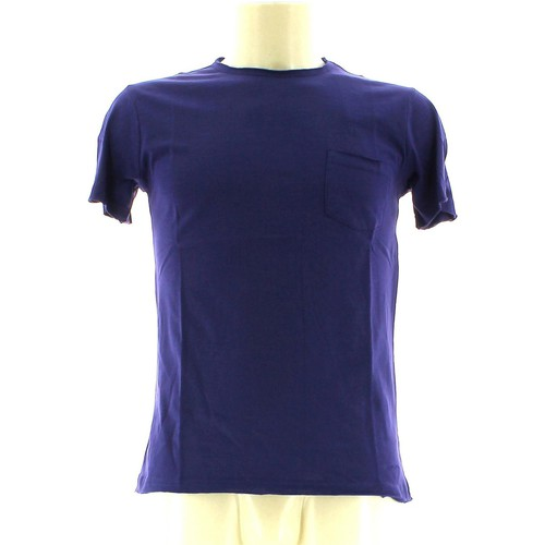 Clothing Men short-sleeved t-shirts Olimpias THMU4126 MU0454 OL T-shirt Man Marina blu Marina blu