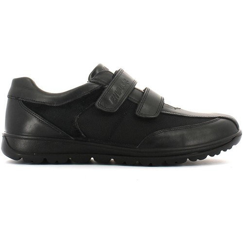 Shoes Men Walking shoes Enval 3898 Scarpa velcro Man Black Black