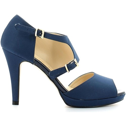 Shoes Women Sandals Grace Shoes 4028 High heeled sandals Women Blue Blue
