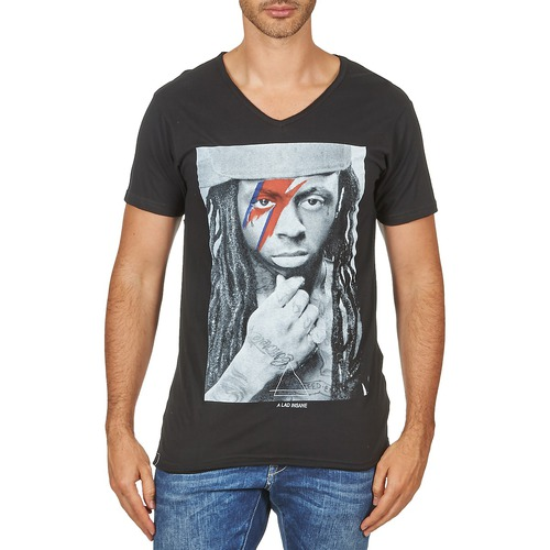 Clothing Men short-sleeved t-shirts Eleven Paris KAWAY M MEN Black