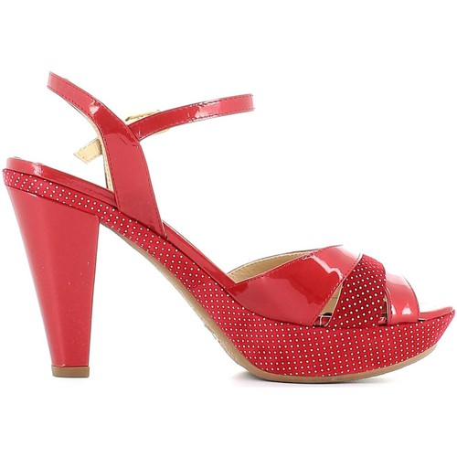 Shoes Women Sandals Grace Shoes CR55 High heeled sandals Women Red Red