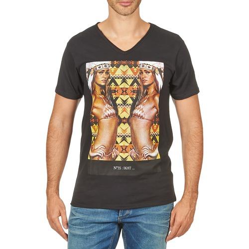 Clothing Men short-sleeved t-shirts Eleven Paris N35 M MEN Black