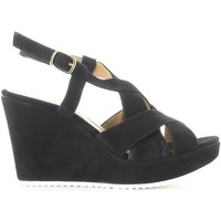 Shoes Women Sandals Grace Shoes 15018 Wedge sandals Women Black Black