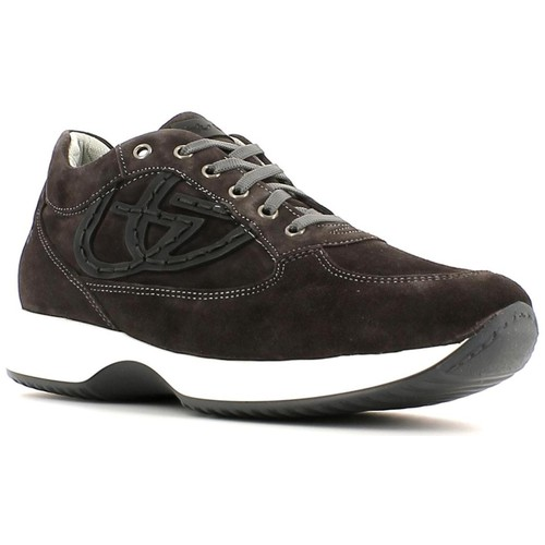 Shoes Men Low top trainers Byblos Blu 652053 Sneakers Man Anthracite Anthracite