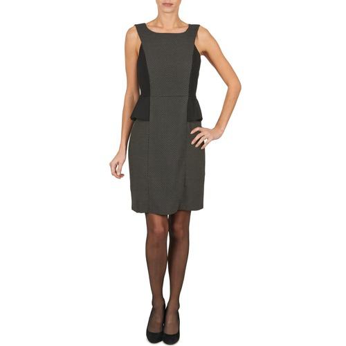 Clothing Women Short Dresses Manoukian PEPLUM Black