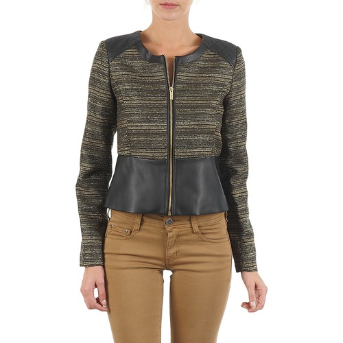 Clothing Women Jackets / Blazers Manoukian QUEELT Black / Gold