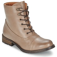Shoes Women Mid boots Pieces SENIDA LEATHER BOOT TAUPE