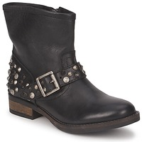 Shoes Women Mid boots Pieces ISADORA LEATHER BOOT Black
