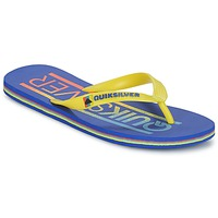 Shoes Men Flip flops Quiksilver MOLOKAI WORDMARK Blue / Yellow