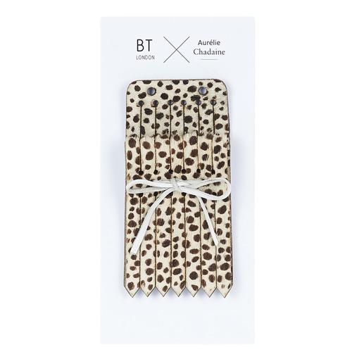 Shoe accessories Women Interchangeable fringes Betty London LANGUETTE DEOPAR Leopard