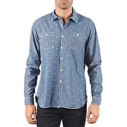 Clothing Men long-sleeved shirts Barbour LAWSON Blue