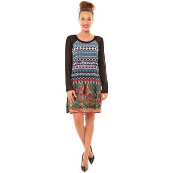 Clothing Women Short Dresses Desigual Robe Dami 57V28D7 noir Black