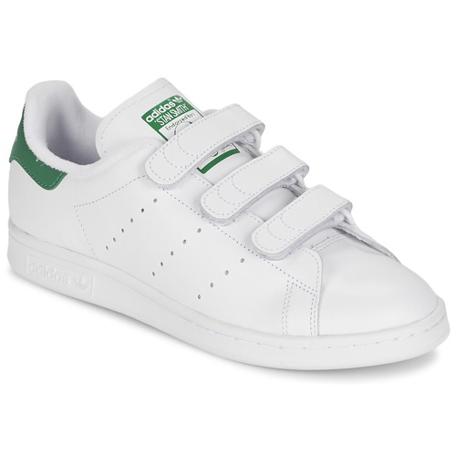 Shoes Low top trainers adidas Originals STAN SMITH CF White / Green