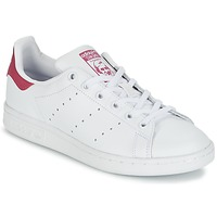 Shoes Children Low top trainers adidas Originals STAN SMITH J White / Pink