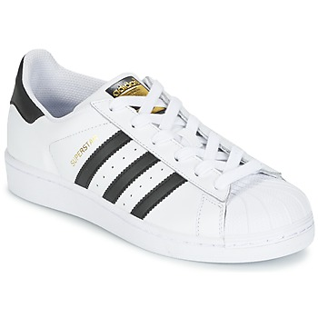 Shoes Children Low top trainers adidas Originals SUPERSTAR White / Black