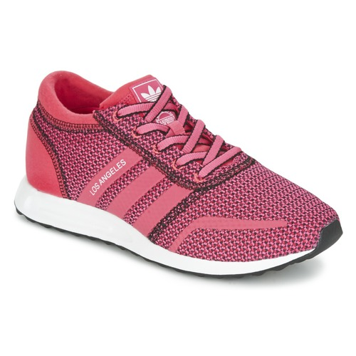 Shoes Women Low top trainers adidas Originals LOS ANGELES W Pink