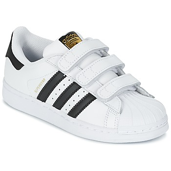 adidas  SUPERSTAR FOUNDATIO  boyss Childrens Shoes (Trainers) in White